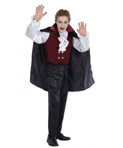 Детский костюм вампира: штаны, рубашка с вшитой жилеткой, плащ (Германия)