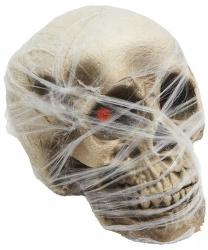 Череп со светодиодами в паутине (18 x 14 см)