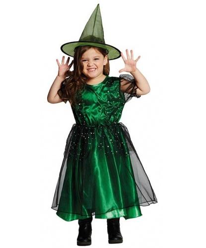Детский костюм Ведьмочки изумрудной : платье, колпак (Германия)