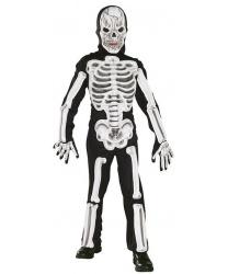 Детский костюм скелета с объемными костями
