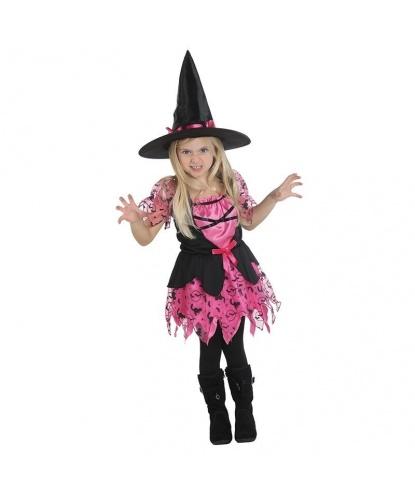 Розовый костюм маленькой ведьмочки: платье, колпак (Германия)