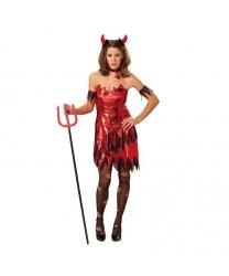 Платье дьяволицы: платье, нарукавники, чокер (Германия)