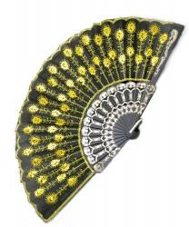 Веер с жёлтой вышивкой
