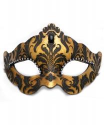 Венецианская золотая маска с узором
