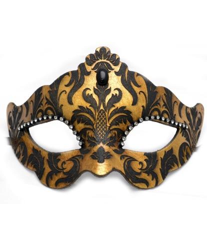 Венецианская золотая маска с узором, папье-маше (Италия)