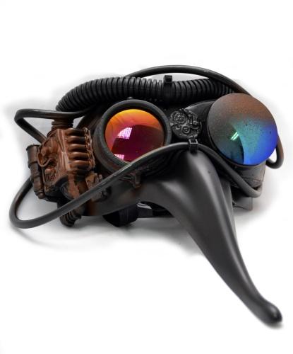 Маска формы Scaramuccia в стиле Steampunk, пластик, металл (Италия)