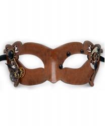 Коричневая маска часовщика в стиле Стимпанк