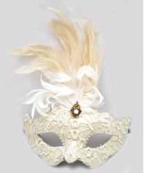 Венецианская маска Colombina, белая