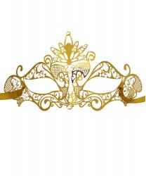 Золотая маска Colombina Pavone