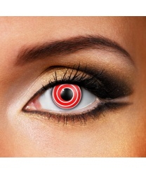 Линзы красная спираль - Цветные линзы, арт: 7525