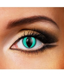 Линзы кошачий глаз аквамарин