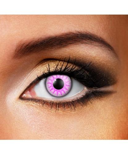 Линзы фиолетовый солярис, без диоптрий, срок ношения 1 год (Великобритания)