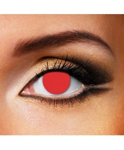 Линзы Красное бельмо, без диоптрий, срок ношения 90 дней (Великобритания)