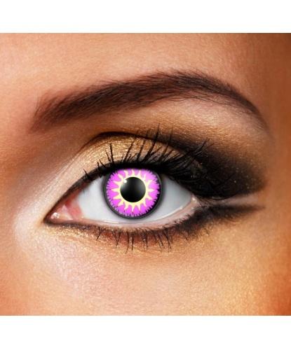 Линзы Glamour violet, однодневные, без диоптрий, срок ношения 1 день (одноразовые) (Великобритания)