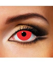 Линзы красные мини склеры - Цветные линзы, арт: 7556