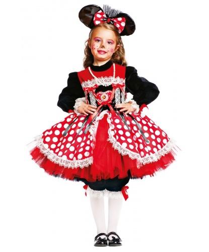 Костюм мышки Минни: платье, бриджи, ободок (Италия)