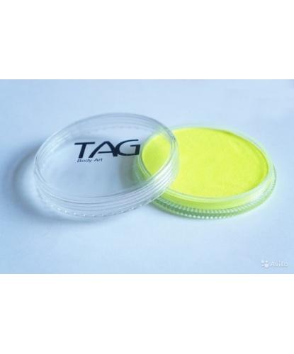 Аквагрим TAG неоновый, желтый, шайба 32 гр. (Австралия)