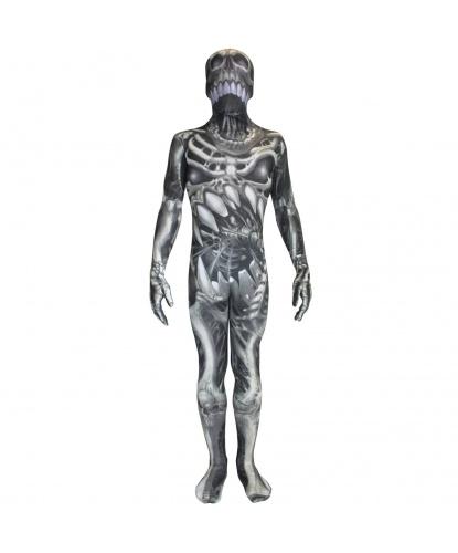 Детский морф-костюм Череп и кости (Великобритания)