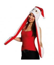 Новогодняя шапка с длинными ушами
