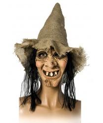 Маска ведьмы с колпаком и волосами