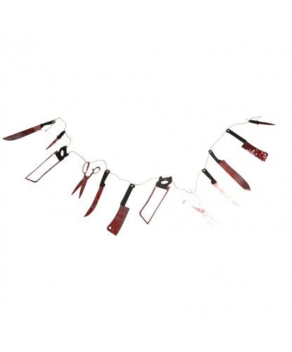 Подвесная декорация на Хэллоуин Кровавые инструменты маньяка