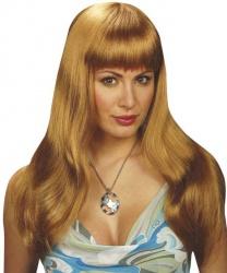 Светло-русый парик с челкой