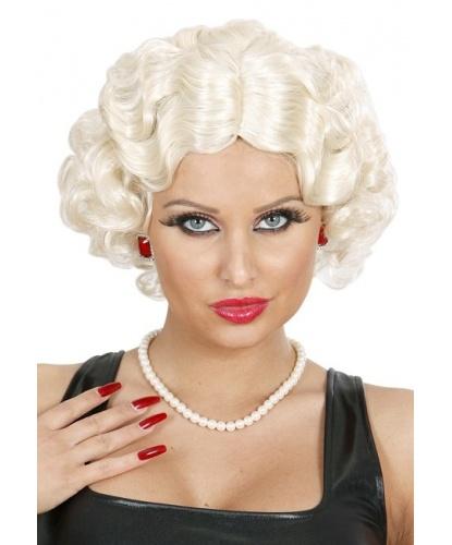 Парик блондинки 20х годов: пепельный, белый (Италия)