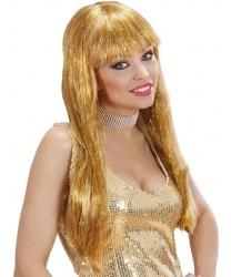 Парик с золотыми волосами