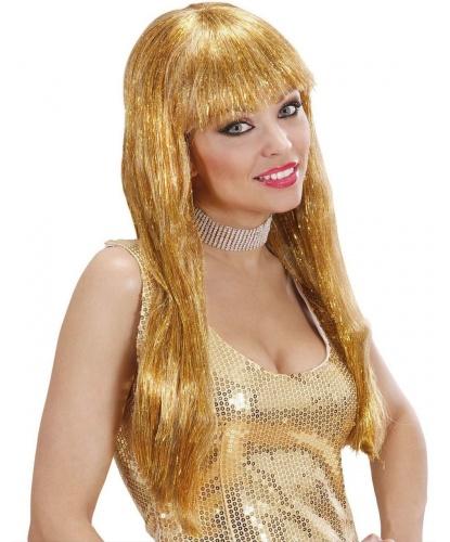 Парик с золотыми волосами: золотой (Италия)