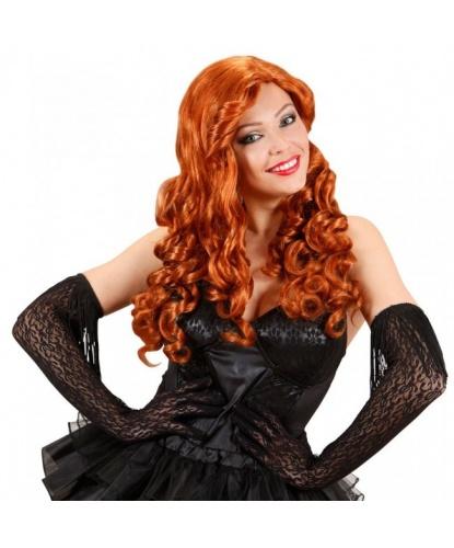 Парик с рыжими кудрявыми волосами: рыжий (Италия)