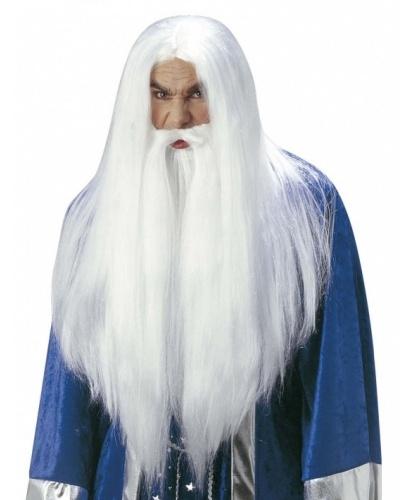 Борода и парик колдуна: белый (Италия)