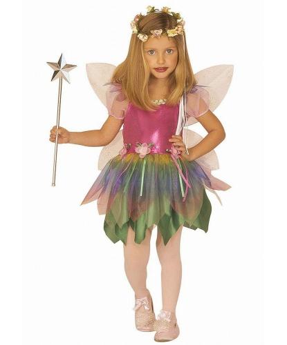 Детский костюм Радужной феи: платье, крылья (Италия)