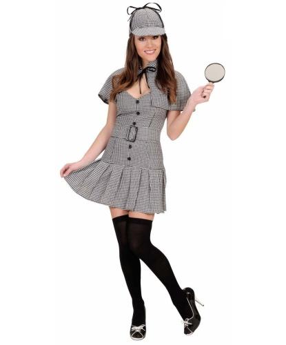 Женский костюм детектива: платье, ремень, головной убор, накидка (Италия)