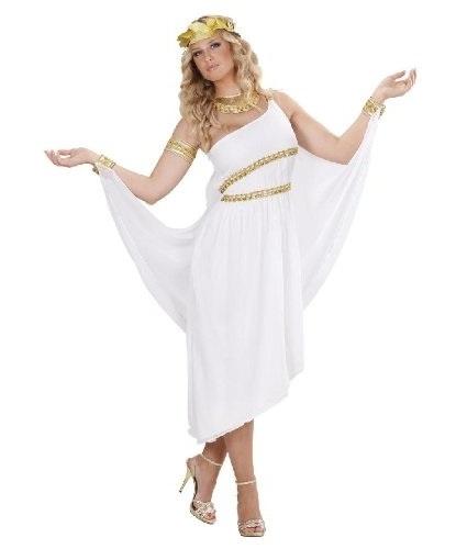 Костюм греческой богини: платье, венок, воротник, браслет (Италия)