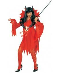 Платье дьяволицы с воротником