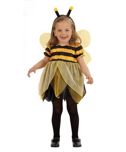 Детский костюм маленькой пчелы: платье, крылья, усики (Италия)