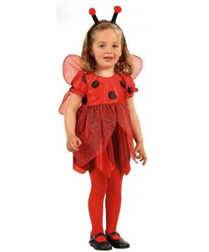 Детский костюм божьей коровки: платье, крылья, усики (Италия)