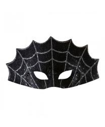 """Черная маска на Хэллоуин """"Паутина"""""""