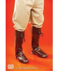 Пиратские накладки на обувь коричневые - Накладки на обувь, арт: 7818