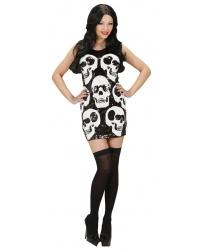 Платье с черепами на Хэллоуин