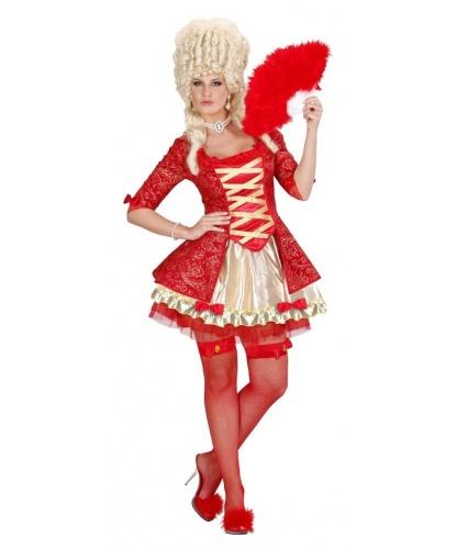 Красное платье Барокко: платье, чулки (Италия)