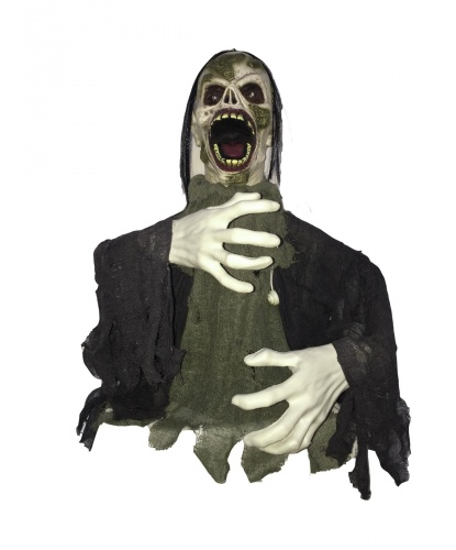 Фигура Зомби на Хэллоуин с эффектами, 105 см.