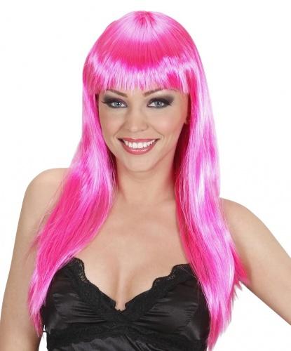 Ярко-розовый парик: розовый (Италия)