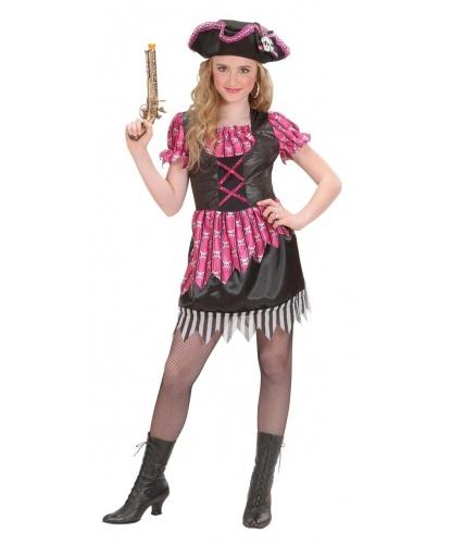 Костюм пиратки для девочки: платье, головной убор (Италия)