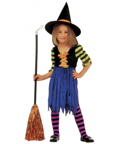 Костюм маленькой ведьмы: платье, колпак (Италия)