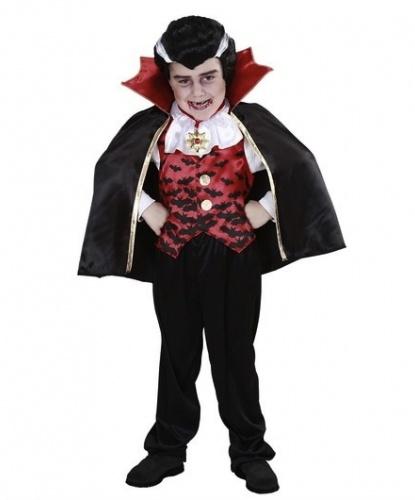Костюм маленького вампира: жилет со вшитой рубашкой, укороченный плащ, штаны (Италия)