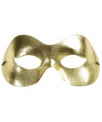 Золотая пластиковая маска