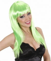 Парик с салатовыми волосами