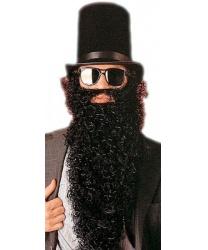 Черная кудрявая борода