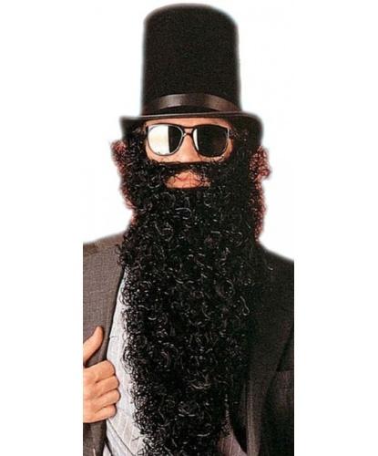 Черная кудрявая борода: черный (Италия)